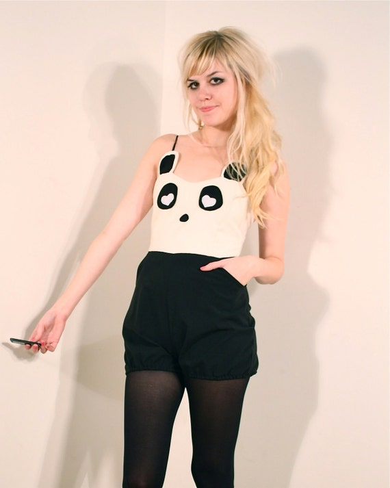Panda Bear Playsuit MADE TO ORDER