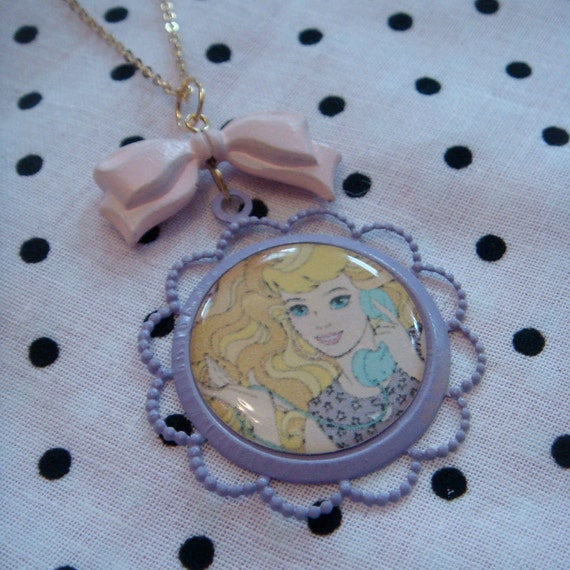 Phone Fun Barbie Cameo Necklace