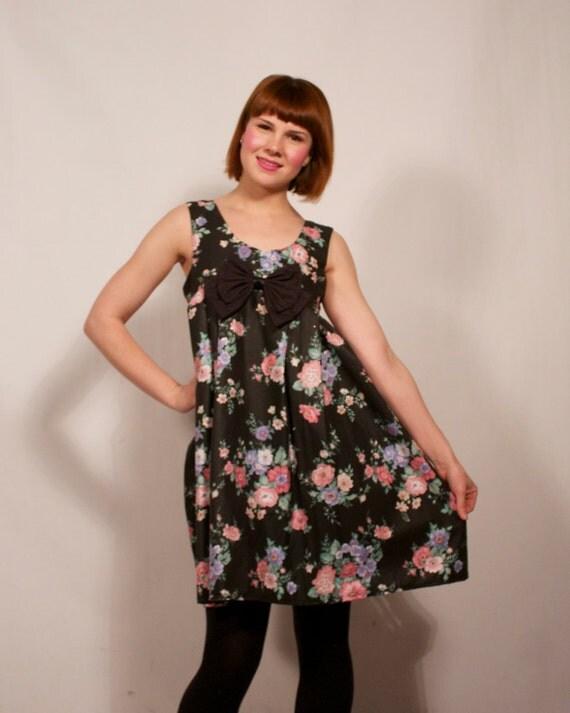 SALE Romantic Floral Print Babydoll Dress