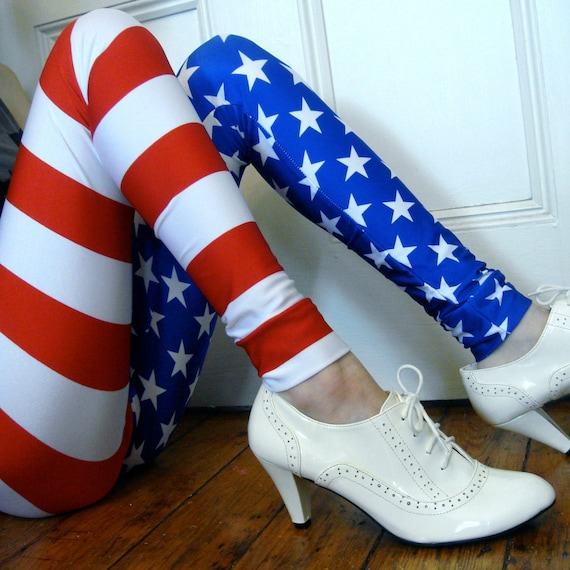 American Flag Leggings MADE TO ORDER