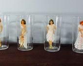 1950s Magic Follies Girls Drinking Glasses-Set of 6