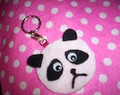 sad panda keychain