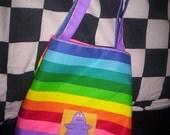 rainbow grimace bag
