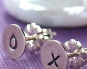Little Sterling Silver XO Stud Earrings
