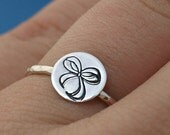 Bow Ring, Sterling Silver Ring, Silver Bow Ring