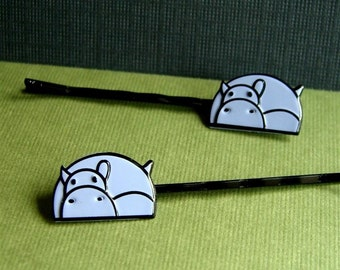 Hippopotami, Hippo Bobby Pins For Your Hair