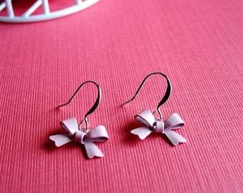 My Little Bow Ties, Bow Earrings in Pink
