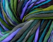 Mountain Heather - Handspun Hand-dyed Bulky Thick-Thin Merino Wool Yarn 233 Yards 7.3 oz