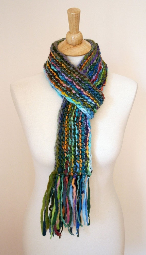 Handspun Super Bulky Scarf Knitting Pattern by ...