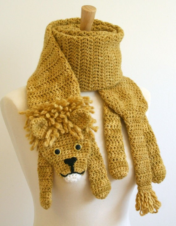 sale scarf handmade crocheted animal scarf