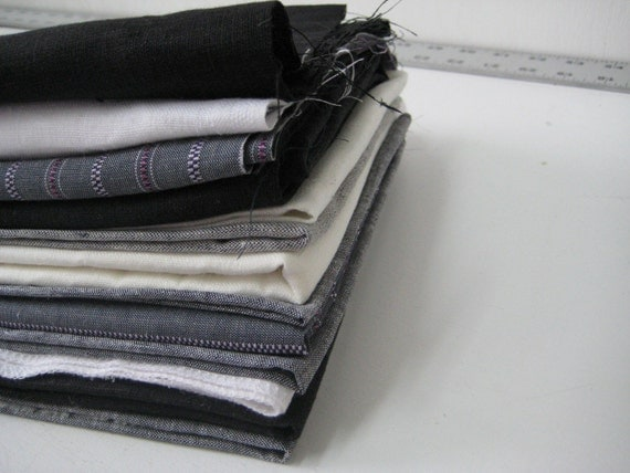 Linen grab bag \/\/ 2 LBS \/\/ Licorice \/ Ghost \/ Lavender stripe \/ Cross dyed