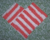 Orange and White Striped Girls Poncho Size 12-24 months