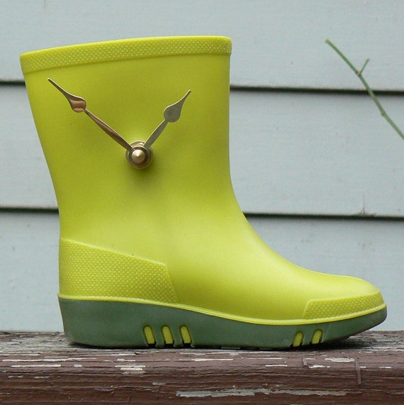 Reserved - Please Look, But Don't Purchase-  Tiny Green Boot TIME