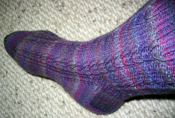 Knitting Brioche Stitch Socks 14 Easy Patterns For Tube Socks : Chain Link Sock Knitting Pattern
