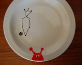 Alien with Carrot Constellation Plate