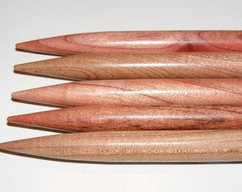 US Size 15...Giant Double Point Surina Wood Knitting Needles...10MM...7 INCH