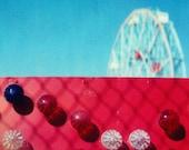 red wonder wheel - ACEO, mini-print
