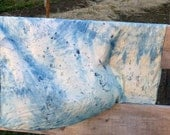 Speckled Hen Scarf / Playsilk, Hand Dyed With Traditional Indigo Made In Vermont