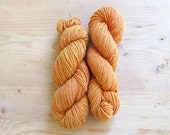 Creamsicle - merino knitting / crochet farm yarn, plant dyed with madder root. Made in Vermont