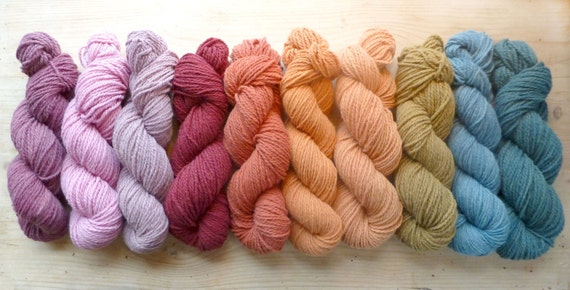 Gift Certificate for 3 Skeins Of Plant Dyed Merino Farm Yarn, Made In Vermont, your color choice, natural dye