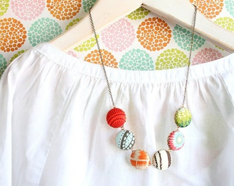 The Modern Button Statement Necklace