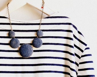 Denim Necklace- As seen on the GAP Pinterest Board