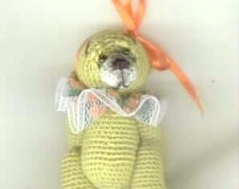 OLIVIA -Thread Crochet Bear Pattern by Edith Molina. PDF Instant Download. Amigurumi.