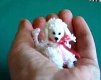 Mini Thread CROCHET Poodle Dog PATTERN by Bear Artist. PDF.