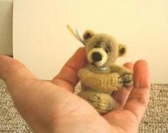 WINSTON - Thread Crochet Bear Pattern - by Edith Molina. PDF Amigurumi Instant Download
