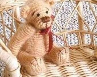 Crochet Bear Pattern: BROWN SUGAR Thread Teddy Bear -- Easy Crochet Pattern PDF Instant Download