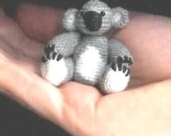 Mini KOALA Thread CROCHET Bear PATTERN by Edith Molina - Pdf Instant Download. Amigurumi.