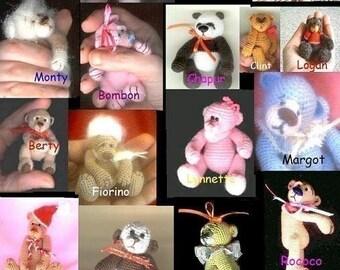 Custom LOT of 3 Thread CROCHET BEAR Pattern s. Pdf Download Miniature Animal Figure Crafts Amigurumi Edith Molina