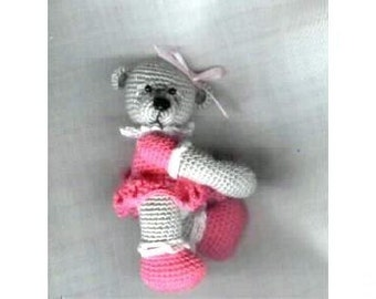 FRIDA Mini Thread Crochet Bear Pattern by Edith Molina - PDF