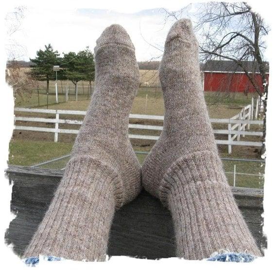 Michigan Grown Alpaca/Wool Socks - Boot Height