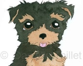 YORKIE - Original Watercolor Illustration