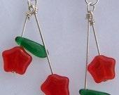 Star Cherries Earrings