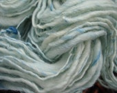 baby blue - handspun wool and tussah silk yarn - hand dyed 66 yards