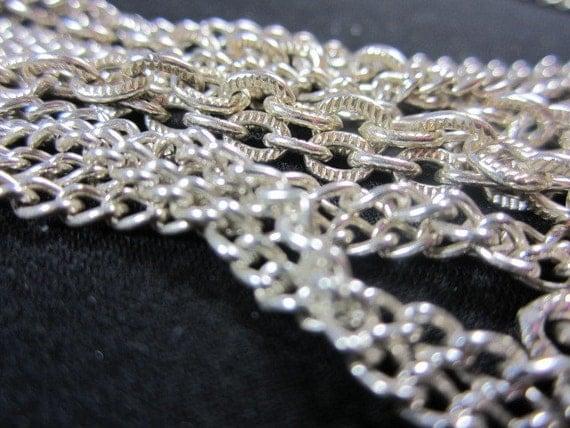 Vintage Silvertone Multi Strand Chain Necklace Japan 1950s