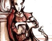 Iago Villain Print - Othello Shakespeare Illustration Poster