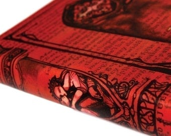 Romeo and Juliet red romance - William Shakespeare leather Guest Book