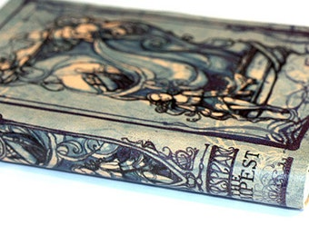 Tempest Blue Journal - Shakespeare Leatherbound Blank Book leather journal