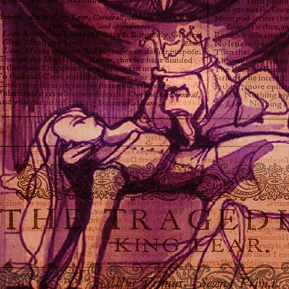 Violet King Lear Print - Shakespeare Folio art print