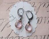 karel earrings - pink Topaz gemstone sterling silver