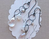 brylee earrings stone sterling white pearl