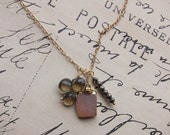 soondree necklace - one of a kind druzy stone mystic quartz