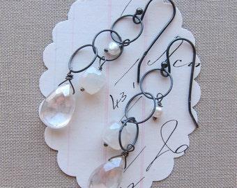 brylee earrings stone sterling white pearl