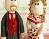 Wedding Cake Topper (Made to Order Bride and Groom Figurines)