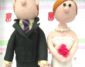 Custom Cake Topper Made To Look Like You - Wedding Cake Topper - Personalized Cake Topper - Bride and Groom Cake Topper - Unique Cake topper