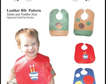 Leather vinyl baby Bib Sewing Pattern - Email Version