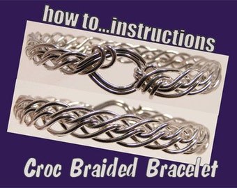 Braided Bracelet step by step Tutorial. instructions, how to, wire-wrapping.